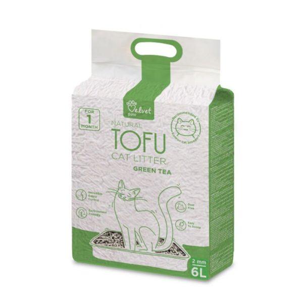 Tofu kraikas katėms su žaliosios arbatos ekstraktu