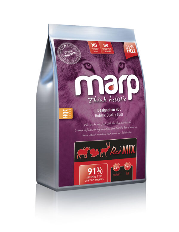 Marp Think holistic Red Mix holistinis sausas maistas šunims su angusų jautiena ir elniena