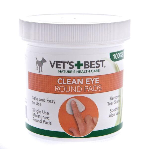 CLEAN EYE ROUND PADS (Medžiaginės apvalios servetėlės akims valyti)