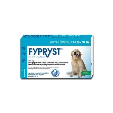 FYPRYST antiparazitinis užlašinamas tirpalas šunims (20-40kg) 1 pipetė