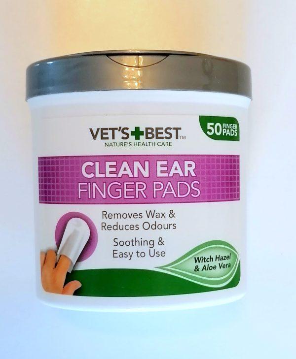 CLEAN EAR FINGER PADS medžiaginiai sudrėkinti antpirščiai ausims valyti 50 vnt.