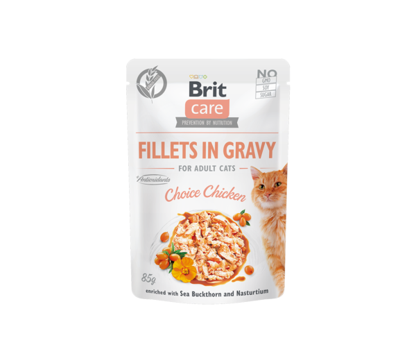 Brit Care Cat konservai katėms Fillets in Gravy Choice chicken 85 g