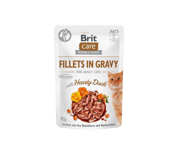 Brit Care Cat konservai katėms Fillets in Gravy Hearty Duck 85 g