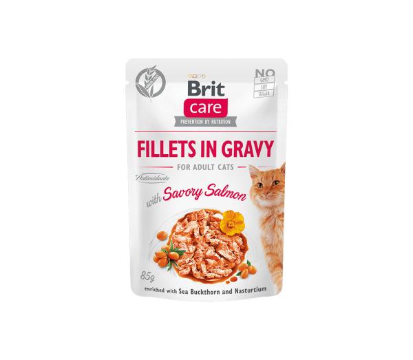 Brit Care Cat konservai katėms Fillets in Gravy Savory salmon 85 g
