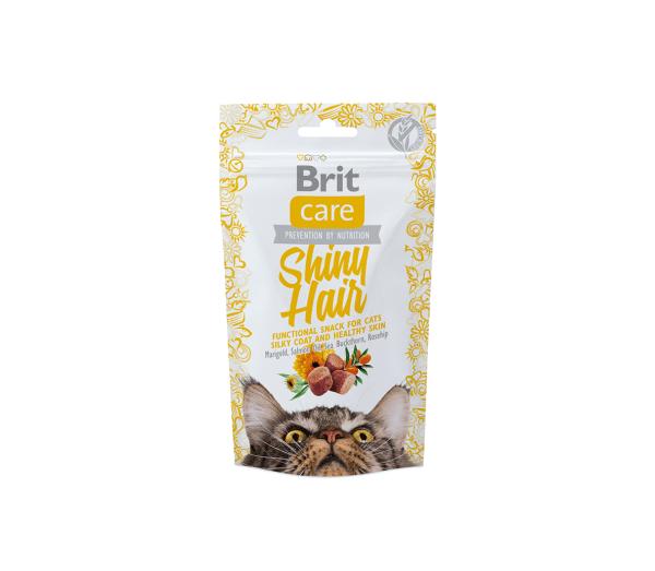 Brit Care skanėstai katėms Shiny Hair 50g