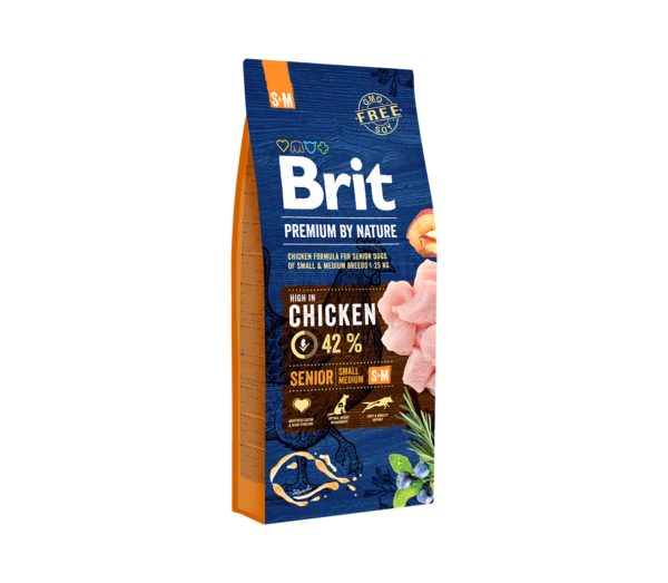 Brit Premium by Nature Senior S+M sausas maistas šunims