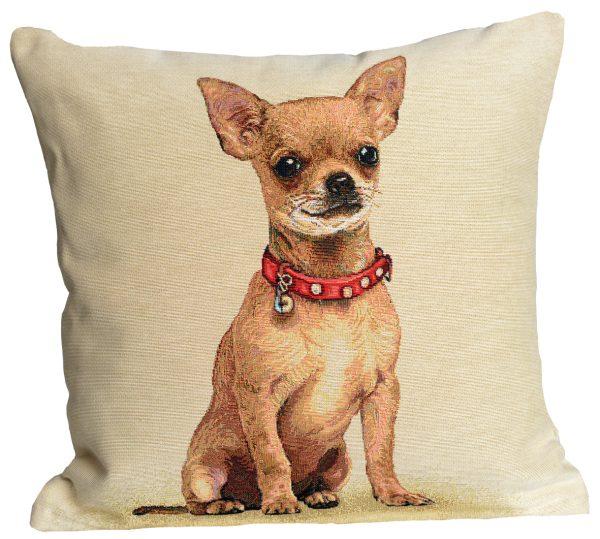 Dekoratyvinė pagalvėlė iš gobeleno 45×45 Čihuahua