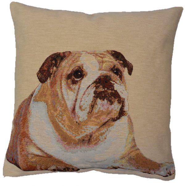 Dekoratyvinė pagalvėlė iš gobeleno 45×45 cm Anglų buldogas