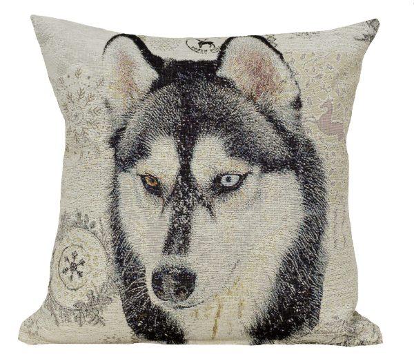 Dekoratyvinė pagalvėlė iš gobeleno 45×45 Sibiro haskis