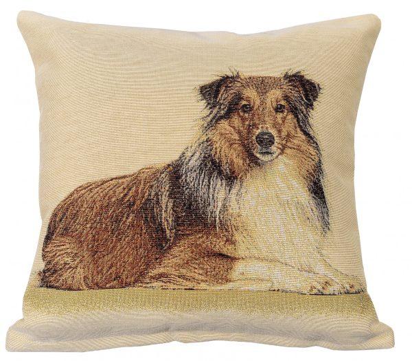Dekoratyvinė pagalvėlė iš gobeleno 45×45 Ilgaplaukis kolis