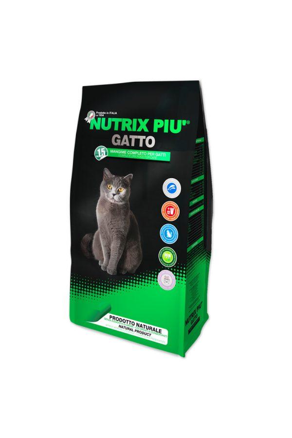 Nutrix Più Gatto – visavertis kačių ėdalas su žuvimi