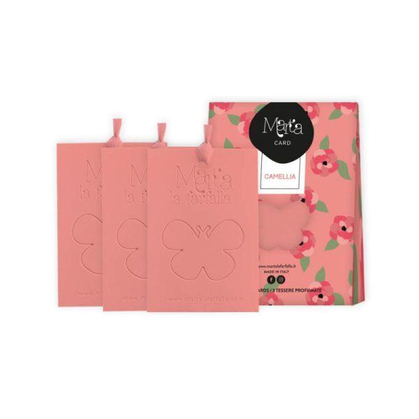 """Aromatinė kortelė MartalaFarfalla """"Camellia"""" 3 vnt."""