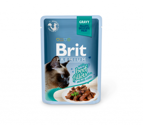 Brit Premium Delicate konservai katėms Beef in Gravy