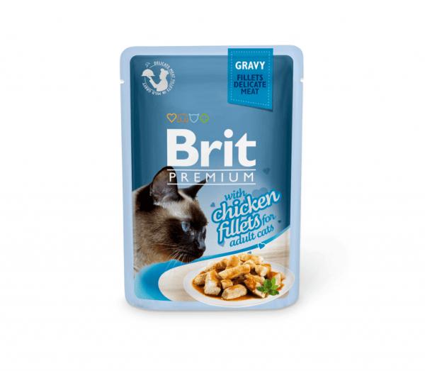 Brit Premium Delicate konservai katėms Chicken in Gravy