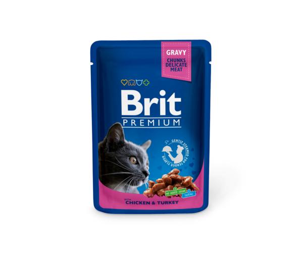 Brit Premium konservai katėms Chicken & Turkey 100g