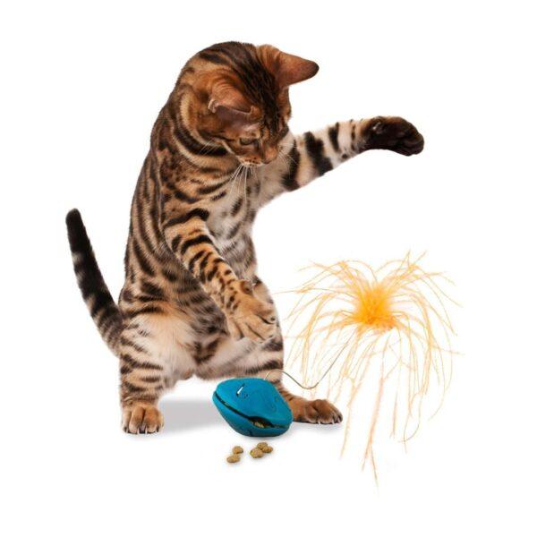 Žaislas suktukas katinukų skanėstams su plunksna PetSafe