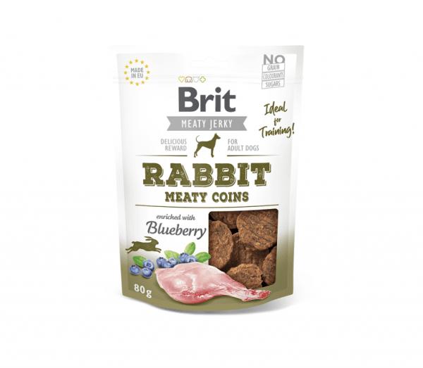 Brit Jerky Rabbit Meaty Coins skanėstas