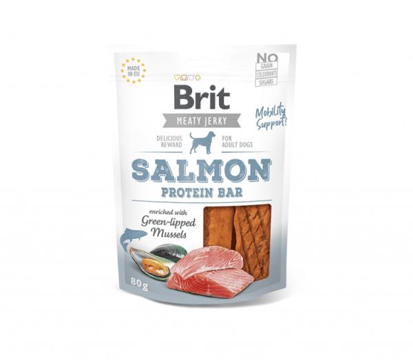 Brit Jerky Salmon Protein Bar skanėstas