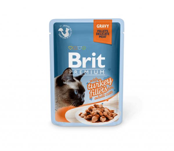 Brit Premium Delicate konservai katėms Turkey in Gravy