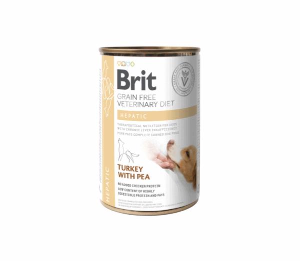Brit Veterinary Diets konservai šunims Hepatic 400g