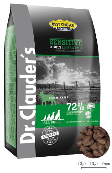 DR. CLAUDER'S SENSITIVE ADULT subalansuotas sausas maistas šunims su ėriena ir ryžiais