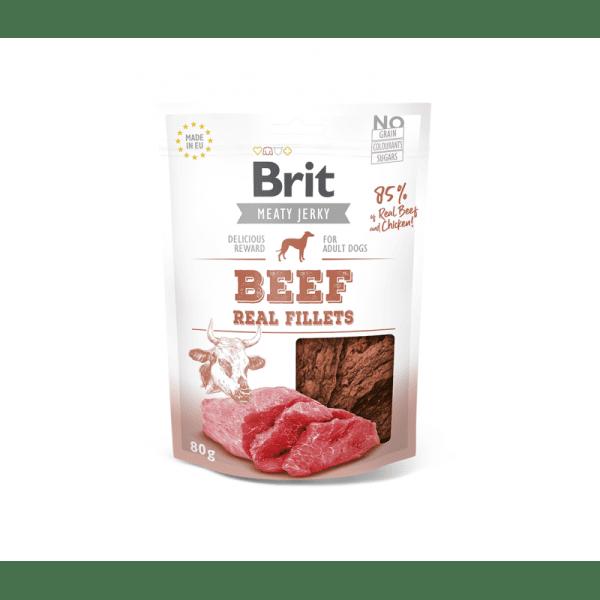 Brit Jerky Beef Real Fillets skanėstai šunims 80 g