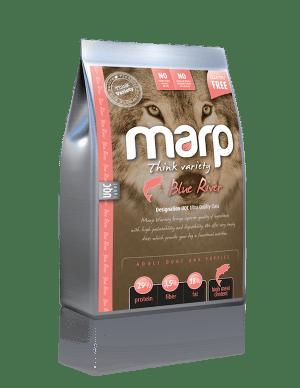 Marp Blue River sausas maistas šunims ir šuniukams su lašiša ir ryžiais