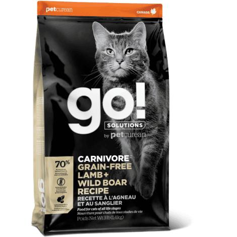 Go! SOLUTIONS CARNIVORE GRAIN FREE su ėriena ir šerniena, 7,3kg