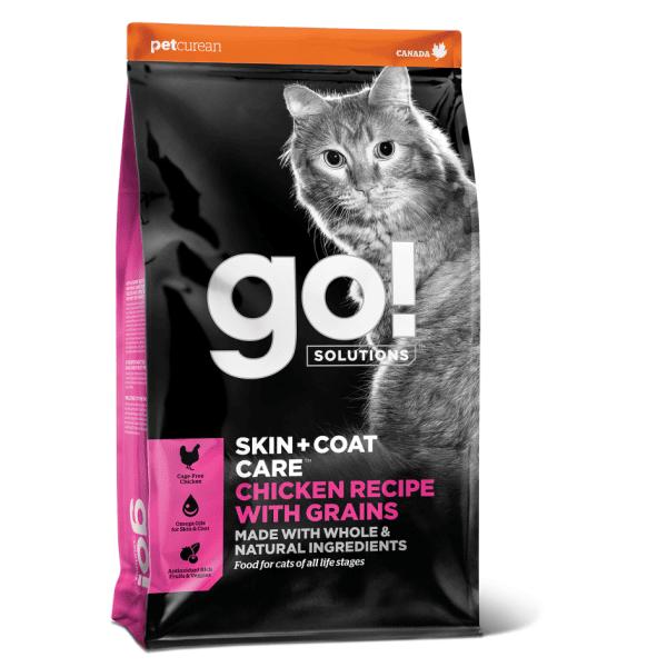 Go! SOLUTIONS SKIN + COAT CARE su vištiena ir sveikais grūdais 7,3 kg