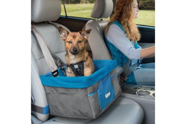 Kurgo automobilinė kėdutė šunims pilka su mėlyna
