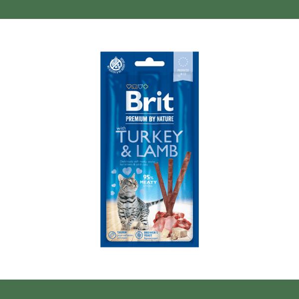 Brit Premium Cat skanėstas su kalakutiena ir ėriena katėms
