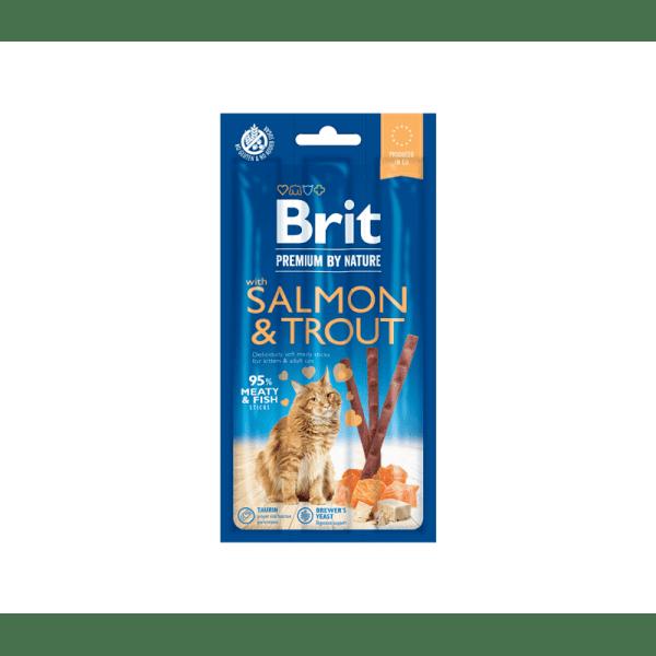 Brit Premium Cat skanėstas su lašiša ir upėtakiu katėms