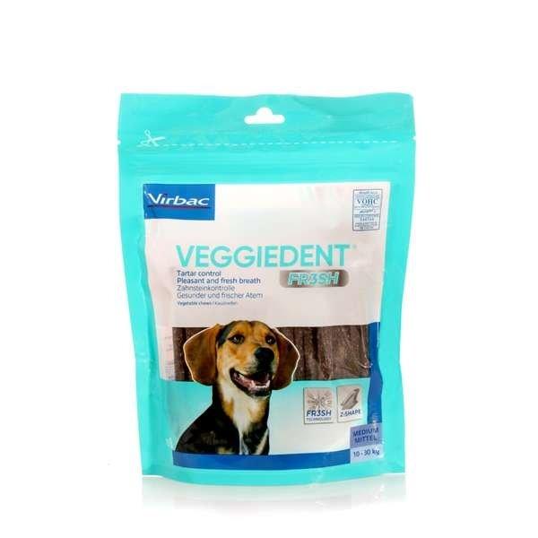 Virbac VeggieDent Fresh kramtukai dantų priežiūrai 10-30 kg
