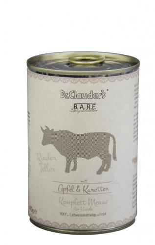 DR CLAUDERS BARF mėsos ir daržovių konservai šunims su jautiena