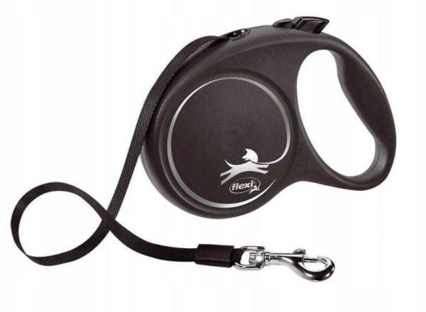 Flexi Black Design L juostinis pavadėlis šunims iki 50 kg 5 m